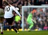 Unbelievable: Wayne Rooney scores from just inside West Ham's half after seven minutes