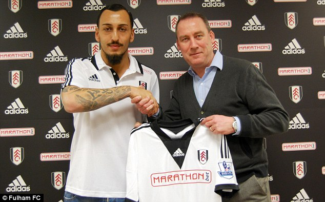 Big-money deal: Konstantinos Mitroglou joined Fulham on deadline day in a deal worth £12.4m