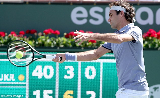 Form man: Federer achieved his eleventh win in a row with victory over Dolgopolov