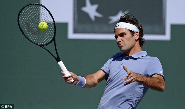 Relaxed: Federer believes his good form is down to regaining his confidence on the court