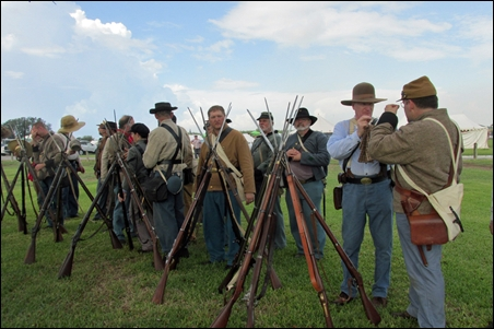 Reenactors at 150th Anniversary of The Battle of Sabine Pass