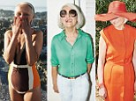 Olga, 62, modelling a swimsuit and tight white trousers for TK Maxx Me. By Me. campaign