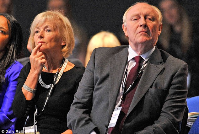 Labour parents: Glenys Kinnock and Neil Kinnock at the 2011 Labour party conference