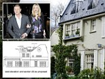 Sean Bean (pictured left with girlfriend Ashley Moore) - known for his roles in Lord of the Rings, Game of Thrones and Sharpe - wants to create the terrace on his home (right), surrounded by 6ft-tall glass screens and huge evergreen planters. But neighbours in Belsize Park, north London, have complained to Camden Council about the plans (left, bottom) - saying it will overlook them and invade their privacy. Mr Bean, 54, has now spent two years fighting for permission.