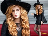 Spellbinding! Bella Thorne looks magical in costume as she transforms from Disney princess to spooky witch
