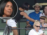 Gunning for her own Vogue cover? Kelly Rowland makes sure to introduce herself to the fashion bible's editor Anna Wintour at the tennis