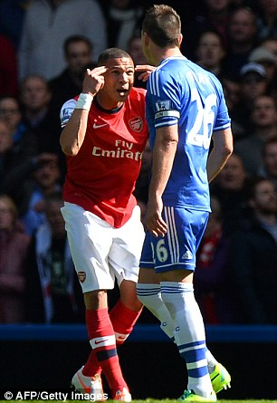Nonsensical: Gibbs was extremly unfortunate to be sent off at Stamford Bridge