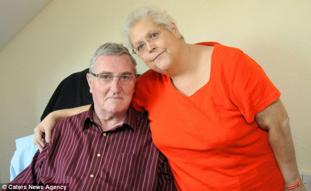 Medics who were monitoring Brenda Griffin while she underwent dialysis via the internet saw her husband Peter collapse on camera and were able to guide Mrs Griffin on how to unlink herself and help her husband