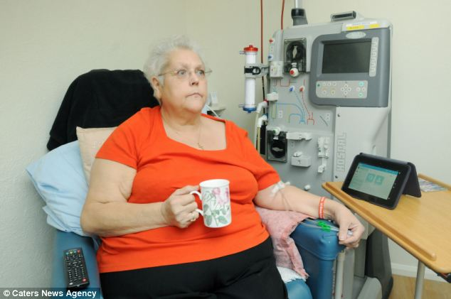 Mrs Griffin had been attending three days a week to be hooked up to a dialysis machine for four hours at a time