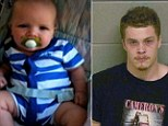 Brantley Farmer (pictured), who was nine months old, died on Saturday afternoon at Children¿s Healthcare of Atlanta at Scottish Rite in Georgia. Donald Justin Lee, 21, was charged with cruelty to children for allegedly injuring the child on Saturday