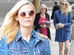 Only she can pull this off! Jaime King doubles denim-on-denim as she grabs lunch with her lookalike mother Nancy