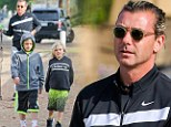 Daddy cool! Musician Gavin Rossdale takes eldest boys to the park, while Gwen Stefani stays home with the newborn