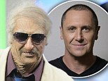 Bad Grandpa: The Daily Edition hosts pose up with an aged Larry Emdur on Monday's show