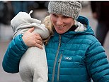 Zara Phillips and baby Mia make their first public appearance together as they watch daddy Mike Tindall playing for Gloucester against the Newcastle Falcons yesterday