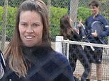 2588320 She's met her match! Hilary Swank gets even closer to French love Laurent Fleury during a flirty tennis game as she visits him AGAIN in Paris
