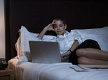 Using electronic devices, such as laptops, shortly before bed can disrupt healthy sleep patters, a study claims