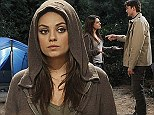 Mila Kunis sparks a romance with fiance Ashton Kutcher on Two And A Half Men... as the couple are 'expecting their first child'