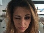 'I woke up like dis (sic)': Cheryl Cole has joined the make-up free selfie trend by posting a picture of herself on Instagram