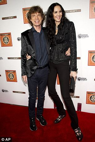 Partners: Jagger had been dating designer L'Wren Scott from 2001 until her death by suicide on Monday (pictured together in 2011)