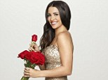 Everything's coming up roses: Andi Dorfman cuts a dazzling figure in a showstopping gold sequinned gown in official Bachelorette portrait