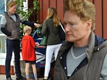 Day out with dad: Conan O'Brien enjoys some father-son bonding time with eight-year-old Beckett