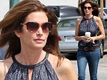 She can make anything glamorous! Cindy Crawford looks lovely while on a coffee in Los Angeles