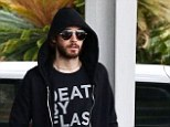 Up in the air! Jared Leto arrives in Sydney to kick of a series of international 30 Seconds To Mars shows