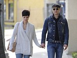 Affectionate: Peter Facinelli and Jaimie Alexander held hands on a walk in Studio City, California, on Saturday