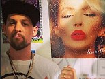 Big fan of Sexercize: Joel Madden posted a picture standing next to Kylie Minogue's Kiss Me Once album cover to his Instagram account on Wednesday