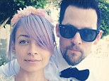 Nicole Richie and Joel Madden pose in sweet Spring selfie