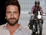 Joyride! Musclebound Gerard Butler studs it up on motorcycle cruise through Sydney