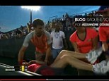 Class act: Dimitrov stopped his match on Sunday to help a ball girl who appeared to be struggling with the 90-degree heat