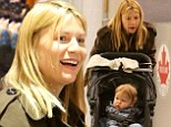 Claire Danes puts on a brave face as she arrives in Canada with son Cyrus after death of her on-screen father James Rebhorn