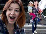 Happy birthday! Alyson Hannigan just turned 40 on Monday - seen celebrating a day early at Disneyland with her daughter Satyana, who turned five on Monday