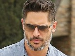 Werewolf or silver fox? Joe Manganiello cuts a suave and clean cut figure in Beverly Hills