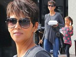 Mother-daughter lunch date! Halle Berry looks casual in skinnies and studded boots as she enjoys some time with Nahla
