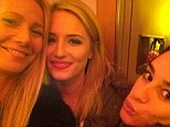 She's back: Gwyneth Paltrow shared an Instagram selfie on Monday of herself and Glee stars Lea Michele and Dianna Agron ahead of Tuesday night's episode