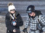 Pulling power: Prince Harry and Cressida Bonas on the slopes in Switzerland last year