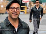 Odd outfit: Jeremy Piven looked like he was going for two different looks at the same time while out on Monday