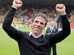 In the frame: Former Watford and West Ham manager Gianfranco Zola is the bookmakers favourite to take charge at Nottingham Forest