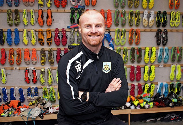 Homegrown: Sean Dyche has taken Burnley within touching distance of returning to the Premier League