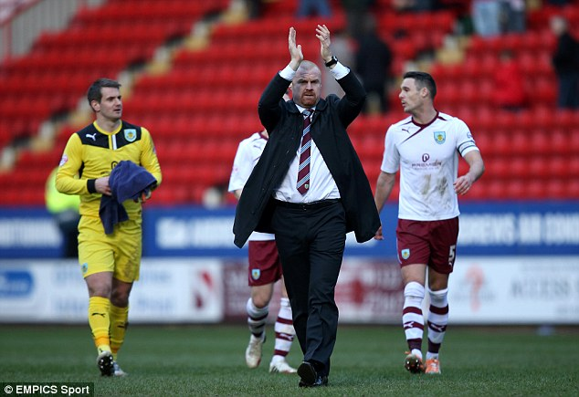 Rising up: Burnley have a 10 point gap above the promotion chasing pack in the Championship this season