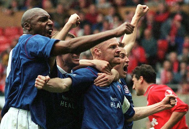Journeyman: As a player, Dyche captained Chesterfield to an FA Cup semi-final against Middlesbrough