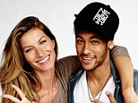 All smiles: Barcelona forward poses with Brazilian model Gisele Bundchen in a picture posted on his Instagram account