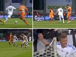 Going solo: Andreas Cornelius scored a wonder goal for FC Copenhagen in their 1-1 draw with Randers