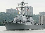A male sailor was shot by another man, a civilian, who was able to gain access to the USS Mahan on Monday night and the suspect was shot dead by security forces later (pictured in 2004)