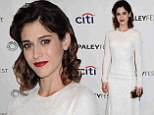 Angelic: Lizzy Caplan donned a lacy white dress as she attended The Paley Centre For Media presented PaleyFest 2014: Masters Of Sex on Monday
