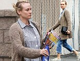 She's got the glow: Diane Kruger goes make-up free as she makes a quick trip to the shops for moisturiser in LA