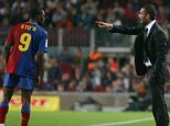 Loggerheads: Striker Samuel Eto'o fell out with Pep Guardiola at Barcelona