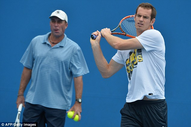 Split: Murray mutually parted with coach Ivan Lendl (left) on Wednesday after more than two years together